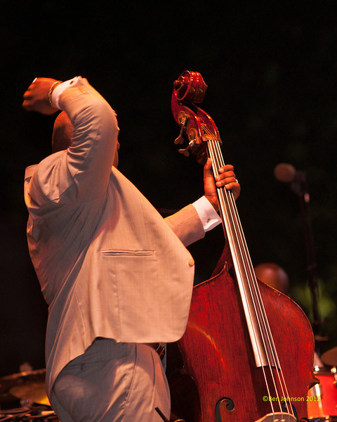 Christian McBride with The Christian McBride Big Band performing as part of the  2012 Clifford Brown Jazz Festival in Rodney Square in Wilmington Delaware, June 18-23, 2012.