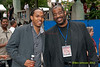 Corcoran Holt and Kevin Mahogany at the 2012 Clifford Brown Jazz Festival in Rodney Square in Wilmington Delaware, June 18-23, 2012.