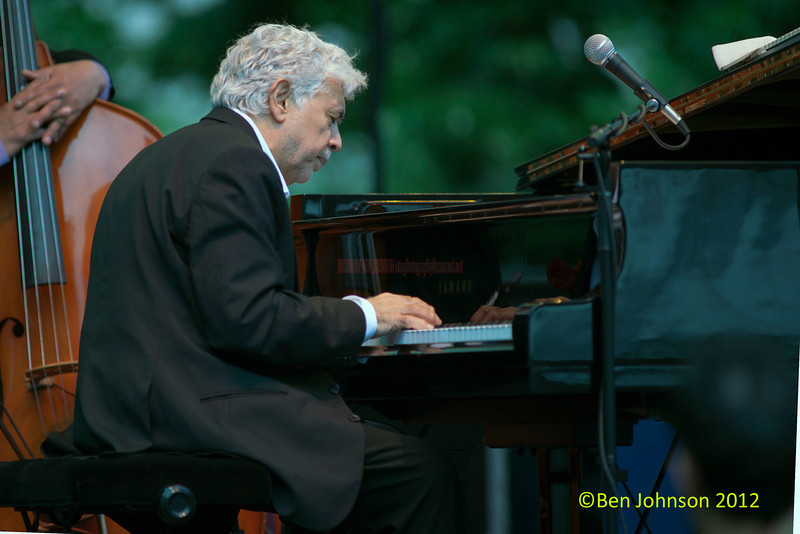 Monty Alexander performing as part of the 2012 Clifford Brown Jazz Festival in Rodney Square in Wilmington Delaware, June 18-23, 2012.