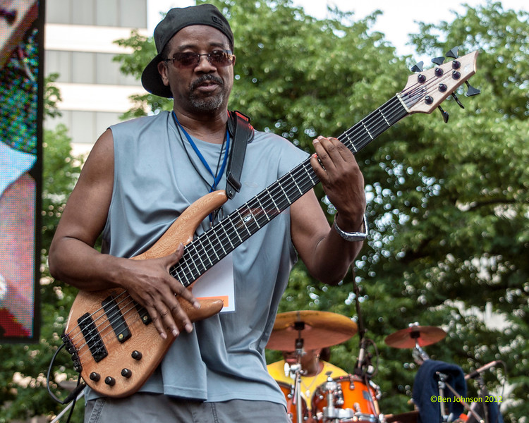Bennie Sims performing as part of the  2012 Clifford Brown Jazz Festival in Rodney Square in Wilmington Delaware, June 18-23, 2012.
