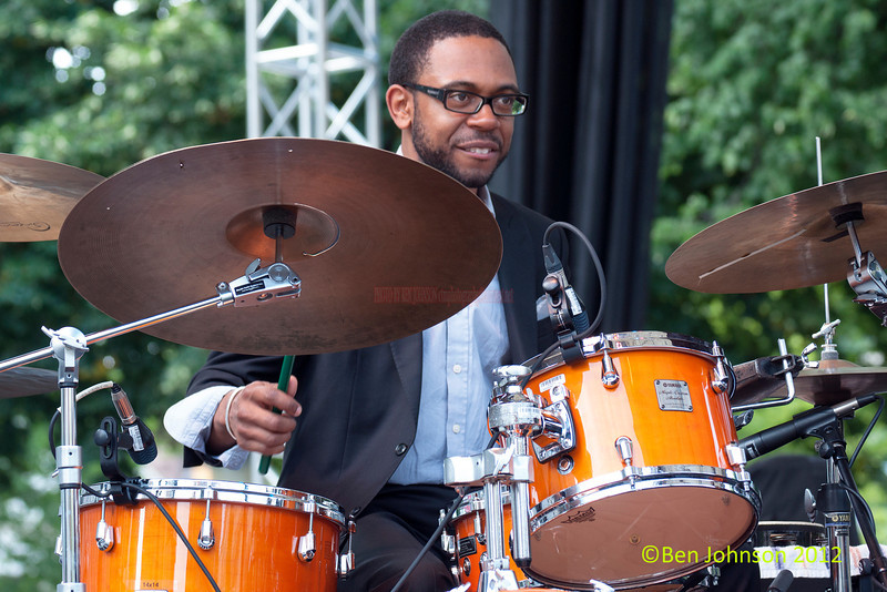 Jerome Jennings performing as part of the 2012 Clifford Brown Jazz Festival in Rodney Square in Wilmington Delaware, June 18-23, 2012.