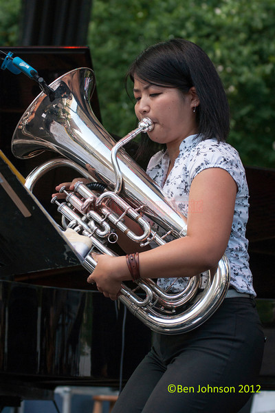 Yasuno Katsuki performing as part of the 2012 Clifford Brown Jazz Festival in Rodney Square in Wilmington Delaware, June 18-23, 2012.