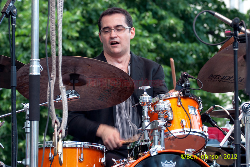 Adriano Santos performing as part of the 2012 Clifford Brown Jazz Festival in Rodney Square in Wilmington Delaware, June 18-23, 2012.