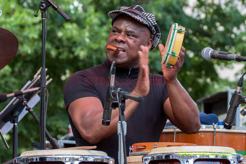 Edson Cafe' Da Silva performing as part of the 2012 Clifford Brown Jazz Festival in Rodney Square in Wilmington Delaware, June 18-23, 2012.