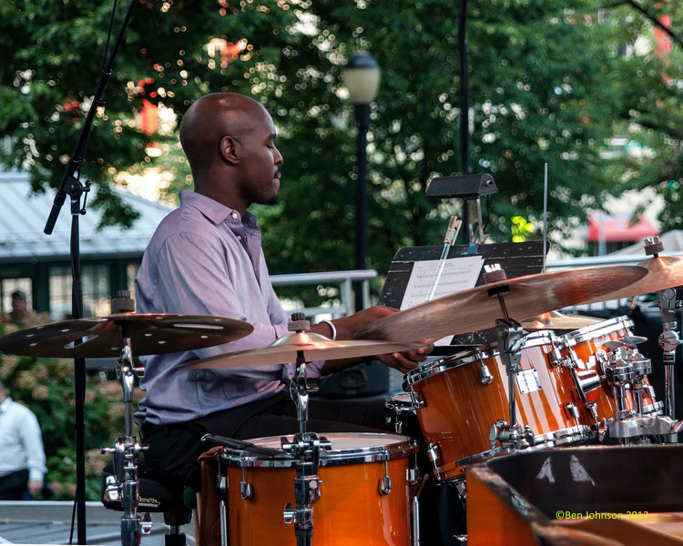 Ulyesses Owens performing as part of the  2012 Clifford Brown Jazz Festival in Rodney Square in Wilmington Delaware, June 18-23, 2012.
