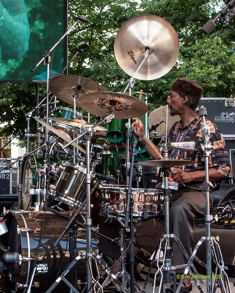 "Greg ""Ju-Ju"" Jones performing as part of the  2012 Clifford Brown Jazz Festival in Rodney Square in Wilmington Delaware, June 18-23, 2012."
