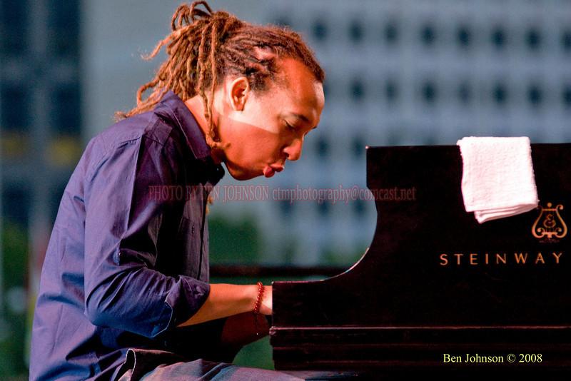 Gerald Clayton  Photo - The 29th Annual Detroit International Jazz Festival, Detroit Michigan, August 29-31, 2008