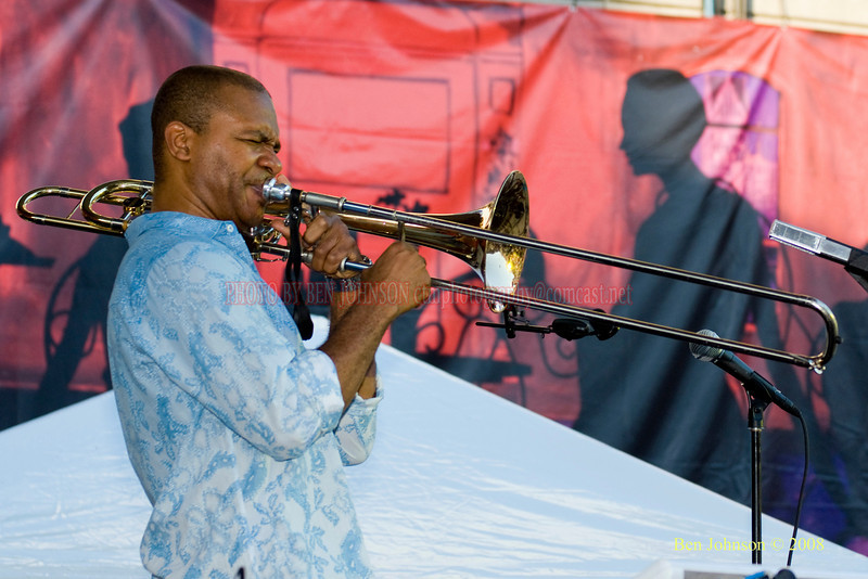 Robin Eubanks  Photo - The 29th Annual Detroit International Jazz Festival, Detroit Michigan, August 29-31, 2008