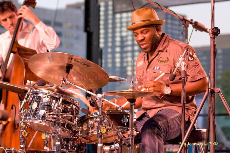 Montez Coleman  Photo - The 29th Annual Detroit International Jazz Festival, Detroit Michigan, August 29-31, 2008