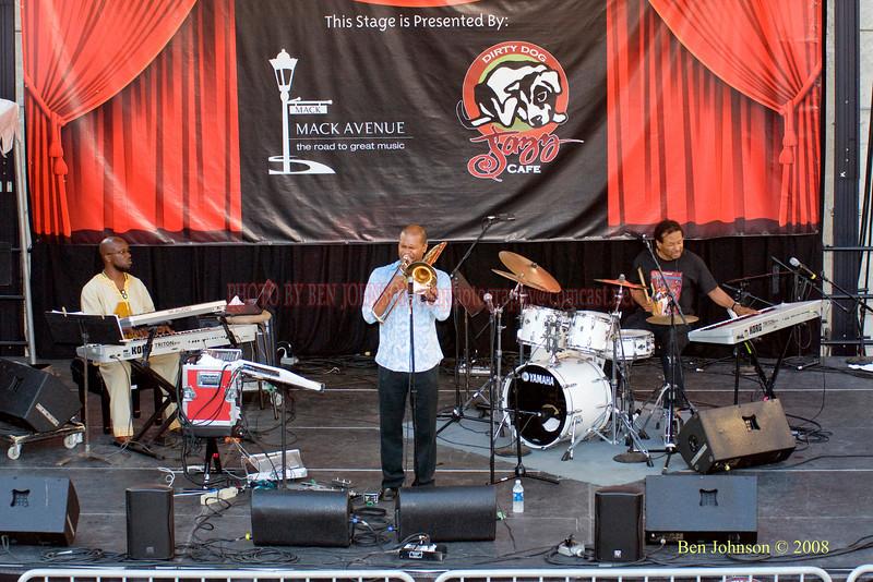 Robin Eubanks Quartet  Photo - The 29th Annual Detroit International Jazz Festival, Detroit Michigan, August 29-31, 2008