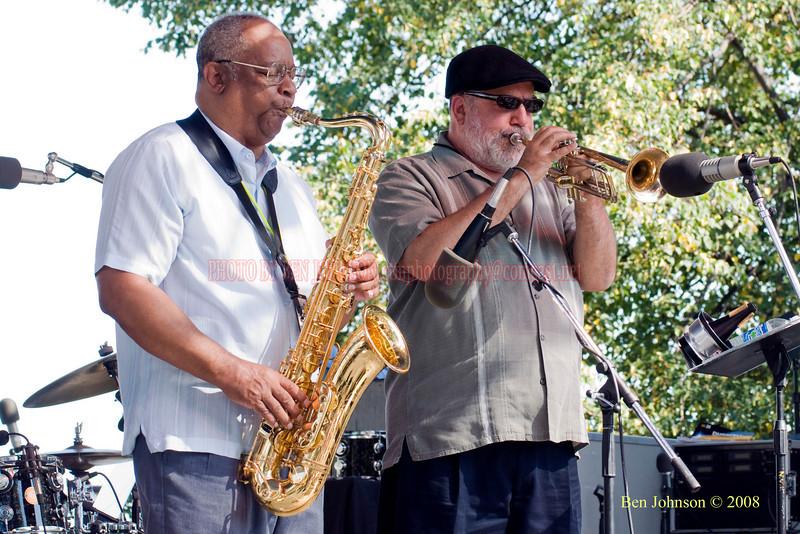 Bootsie Barnes & Randy Brecker  Photo - The 29th Annual Detroit International Jazz Festival, Detroit Michigan, August 29-31, 2008