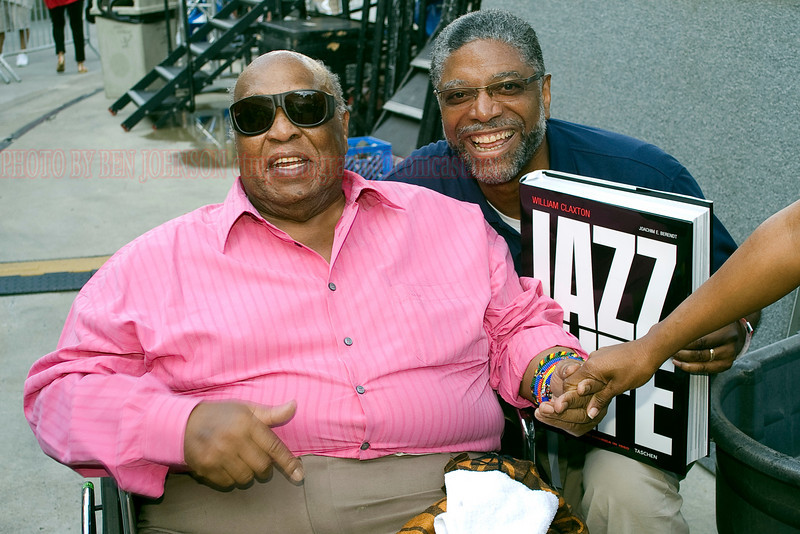 Les McCann & WRCJ Station manager Robert Scott<br /> The 29th Annual Detroit International Jazz Festival, Detroit Michigan, August 29-31, 2008
