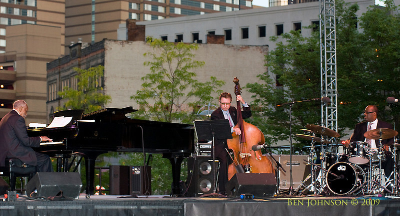 The Hank Jones Trio with George Mraz on bass and Carl Allen on drums performing at The 30th Annual Detroit Jazz Festival held September 4-7, 2009 at Hart Plaza in downtown Detroit, Michigan