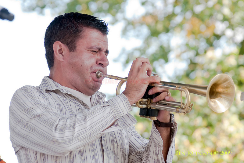 2009 Detroit Jazz Festival Photos - Gilbert Castellanos performing with The Charles McPherson Quintet at The 30th Annual Detroit Jazz Festival held September 4-7, 2009 at Hart Plaza in downtown Detroit, Michigan
