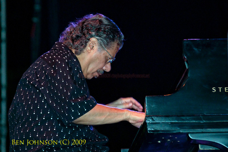 2009 Detroit Jazz Festival Photos - Pianist Chick Corea performing with Stanley Clarke and Lenny White at The 30th Annual Detroit Jazz Festival held September 4-7, 2009 at Hart Plaza in downtown Detroit, Michigan