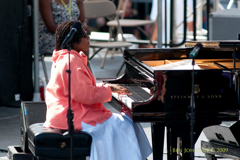 2009 Detroit Jazz Festival Photos - Geri Allen performing with The Marcus Belgrave All Star Quintet at The 30th Annual Detroit Jazz Festival held September 4-7, 2009 at Hart Plaza in downtown Detroit, Michigan