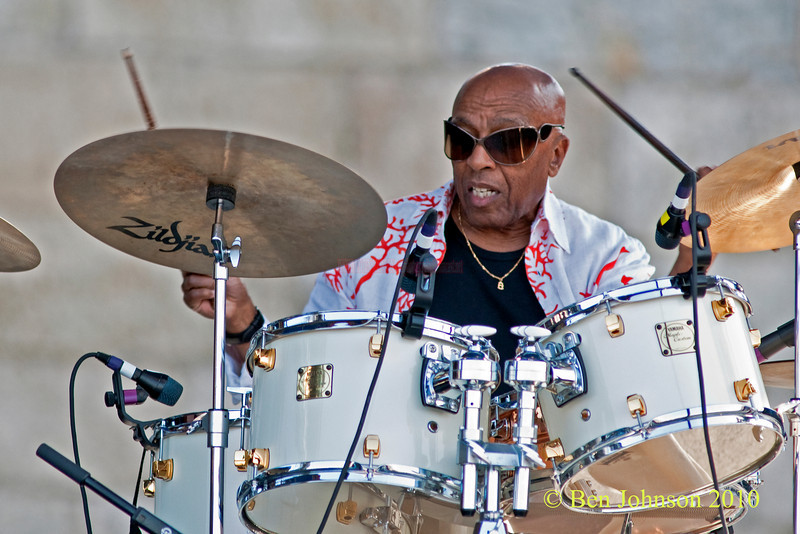 Roy Haynes photo - performing at The 2010 Carefusion Jazz Festival in Newport, Rhode Island at Fort Adams State park. The 56th anniversary of the Jazz Festival produced by Founder George Wein