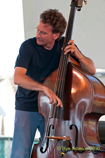 Larry Grenadier photo - performing at The 2010 Carefusion Jazz Festival in Newport, Rhode Island at Fort Adams State park. The 56th anniversary of the Jazz Festival produced by Founder George Wein
