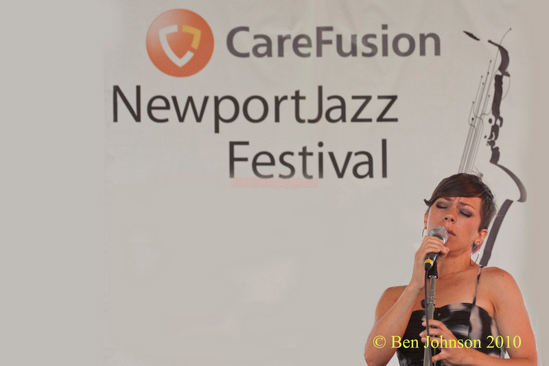 Gretchen Parlato photo - performing at The 2010 Carefusion Jazz Festival in Newport, Rhode Island at Fort Adams State park. The 56th anniversary of the Jazz Festival produced by Founder George Wein
