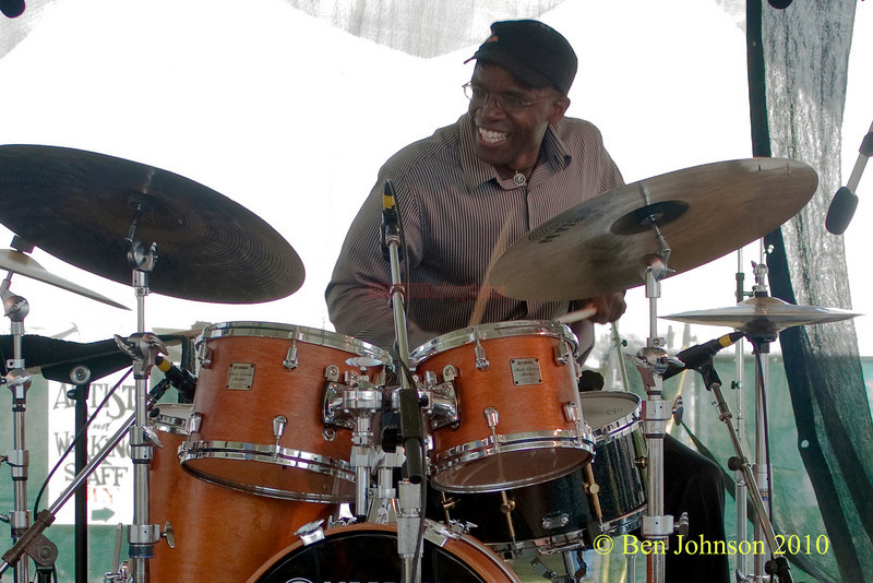 Rudy Royston photo - performing at The 2010 Carefusion Jazz Festival in Newport, Rhode Island at Fort Adams State park. The 56th anniversary of the Jazz Festival produced by Founder George Wein