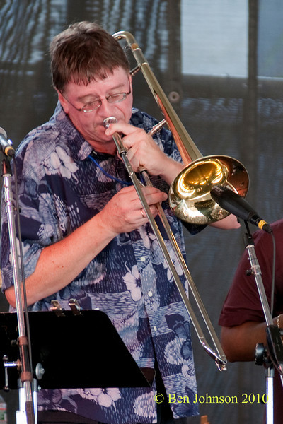 Conrad Herwig photo - performing at The 2010 Carefusion Jazz Festival in Newport, Rhode Island at Fort Adams State park. The 56th anniversary of the Jazz Festival produced by Founder George Wein