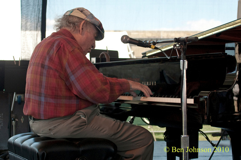 George Wein photo - performing at The 2010 Carefusion Jazz Festival in Newport, Rhode Island at Fort Adams State park. The 56th anniversary of the Jazz Festival produced by Founder George Wein