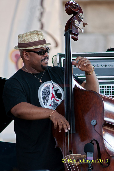 Christrian McBride photo - performing at The 2010 Carefusion Jazz Festival in Newport, Rhode Island at Fort Adams State park. The 56th anniversary of the Jazz Festival produced by Founder George Wein