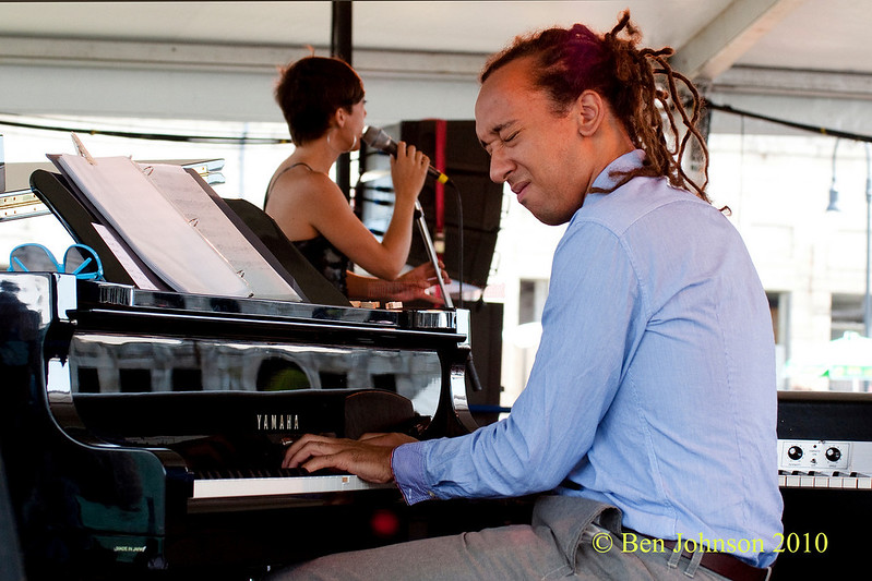 Gerald Clayton photo - performing at The 2010 Carefusion Jazz Festival in Newport, Rhode Island at Fort Adams State park. The 56th anniversary of the Jazz Festival produced by Founder George Wein