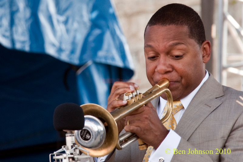 Wynton Marsalis photo - performing at The 2010 Carefusion Jazz Festival in Newport, Rhode Island at Fort Adams State park. The 56th anniversary of the Jazz Festival produced by Founder George Wein