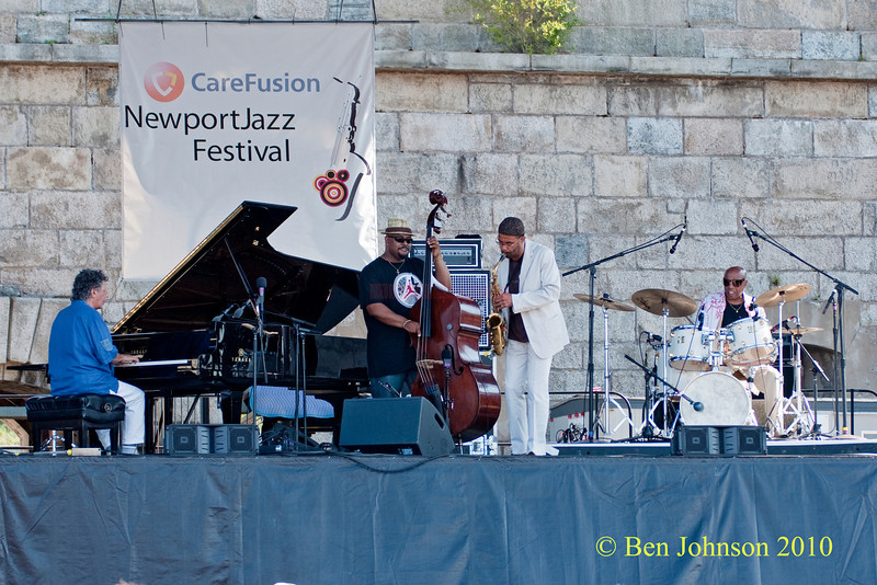 Chic Corea Quartet photo - performing at The 2010 Carefusion Jazz Festival in Newport, Rhode Island at Fort Adams State park. The 56th anniversary of the Jazz Festival produced by Founder George Wein
