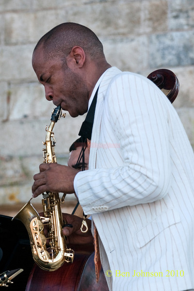 Walter Blanding photo - performing at The 2010 Carefusion Jazz Festival in Newport, Rhode Island at Fort Adams State park. The 56th anniversary of the Jazz Festival produced by Founder George Wein