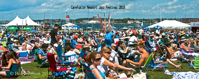 The crowd at the 2010 Carefusion Newport Jazz Festival