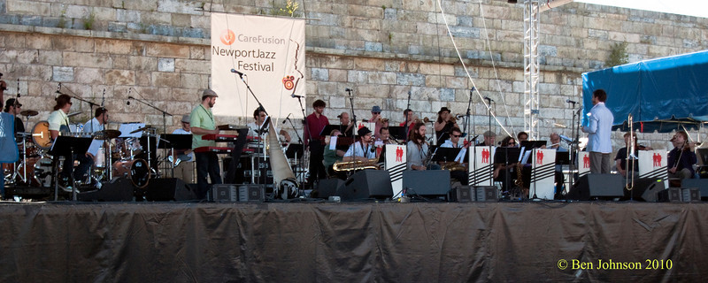Jazz Mafia Photo - Performing  Brass Bows and Beats, Written, arranged, and composed by Adam Theis,  at The 2010 Carefusion Jazz Festival in Newport, Rhode Island at Fort Adams State park. The 56th anniversary of the Jazz Festival produced by Founder George Wein