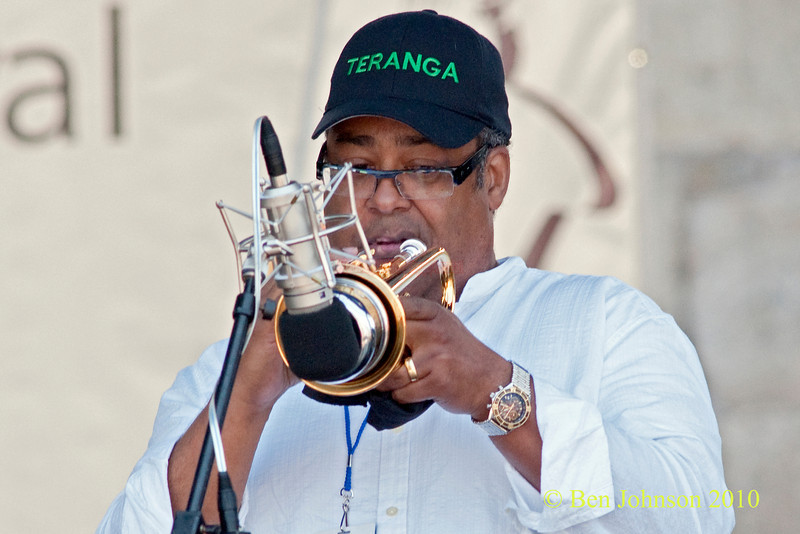 John Faddis photo - performing at The 2010 Carefusion Jazz Festival in Newport, Rhode Island at Fort Adams State park. The 56th anniversary of the Jazz Festival produced by Founder George Wein