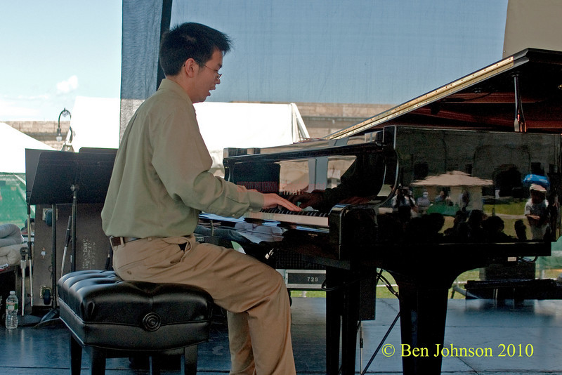 Christian Li photo  - performing at The 2010 Carefusion Jazz Festival in Newport, Rhode Island at Fort Adams State park. The 56th anniversary of the Jazz Festival produced by Founder George Wein