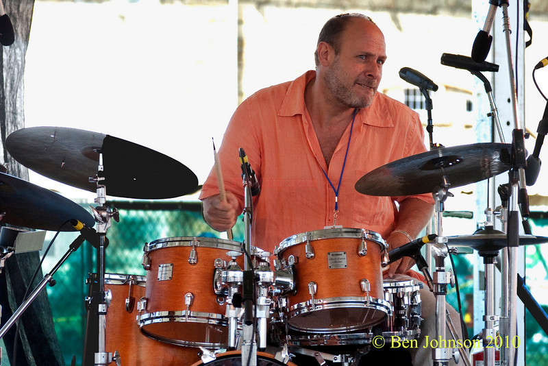Jeff Ballard photo - performing at The 2010 Carefusion Jazz Festival in Newport, Rhode Island at Fort Adams State park. The 56th anniversary of the Jazz Festival produced by Founder George Wein