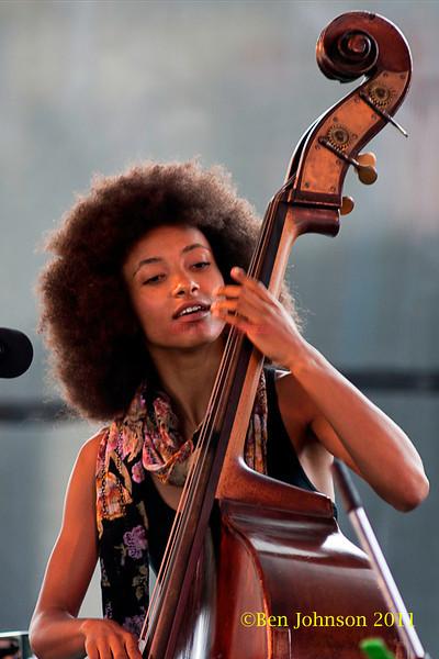 Esperanza Spalding performing at  the 2011 Newport Jazz Festival, August 6, 2011