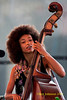 Esperanza Spalding performing at  the 2011 Newport Jazz Festival, August 6, 2011