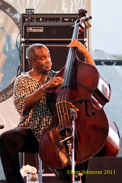 Alex Blake performing at  the 2011 Newport Jazz Festival, August 6, 2011