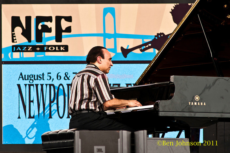 Michel Camilo performing at  the 2011 Newport Jazz Festival, August 6, 2011