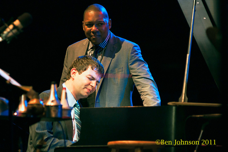Wynton Marsalis adn Dan Nimmer perform at The Tennis Hall of Fame on the first night of the 2011 Newport Jazz Festival, August 5, 2011