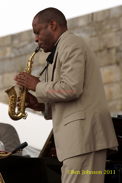 Walter Blanding performing at  the 2011 Newport Jazz Festival, August 6, 2011