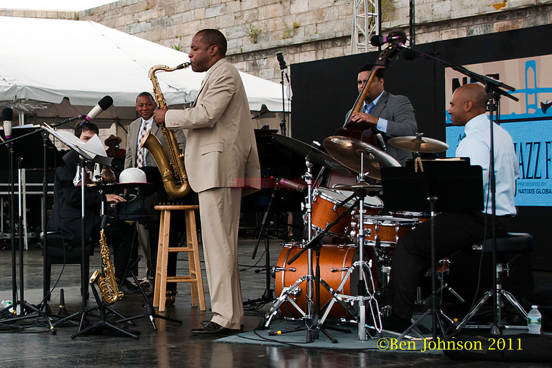 Wynton Marsalis Quintet performing at  the 2011 Newport Jazz Festival, August 6, 2011