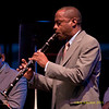 Walter Blanding performs at The Tennis Hall of Fame on the first night of the 2011 Newport Jazz Festival, August 5, 2011