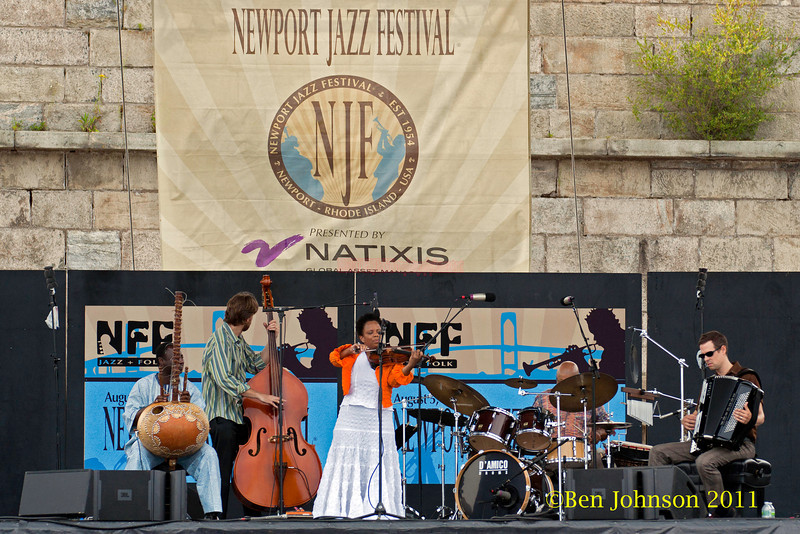 Regina Carter's 'Reverse Thread' performing at the 2011 Newport Jazz Festival, August 6, 2011