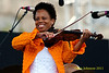 Regina Carter performing at  the 2011 Newport Jazz Festival, August 6, 2011