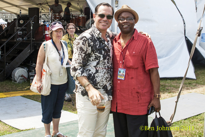Kurt Elling and Lewis Nash  photo - The 2012 Newport Jazz Festival, August 3-7, 2012 at The Tennis Hall of Fame and Fort Adams State Park in Newport Rhode Island.