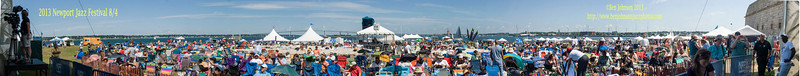 Panoramic Photo From - The 2013 Newport Jazz Festival