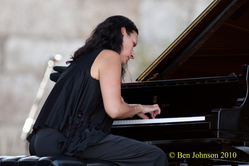 Amina Figarova photo - performing at The 2010 Carefusion Jazz Festival in Newport, Rhode Island at Fort Adams State park. The 56th anniversary of the Jazz Festival produced by Founder George Wein