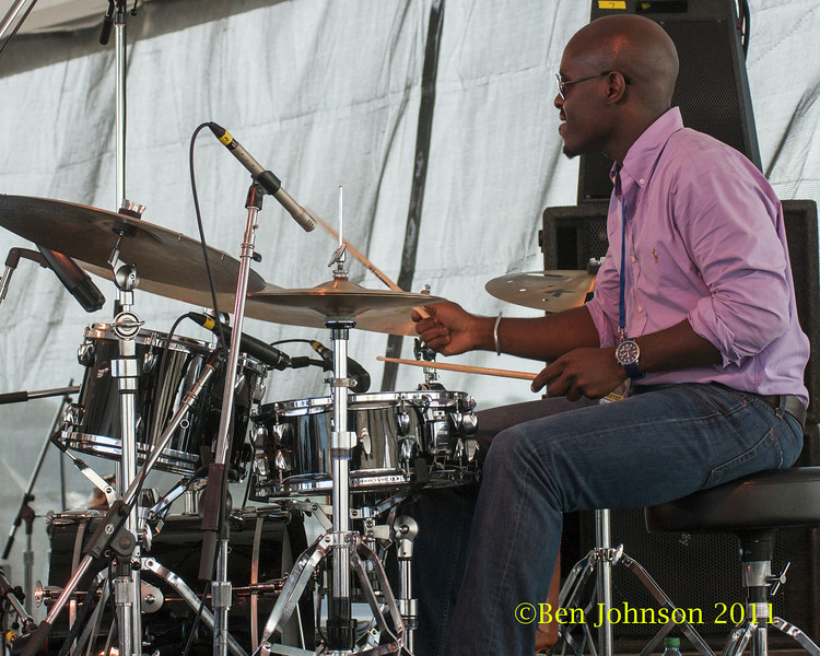 Ulysses Owens Jr. photo - The 2012 Newport Jazz Festival, August 3-7, 2012 at The Tennis Hall of Fame and Fort Adams State Park in Newport Rhode Island.